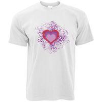 Wholesale art loving couple online - Valentine s Day T Shirt I Love You Art Paint Splatter Couples Relationship Men Women Unisex Fashion tshirt