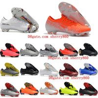 Wholesale vapor superfly for sale - Group buy 2019 mens soccer shoes Fury CR7 Mercurial Vapors XII VII Elite FG soccer cleats outdoor football boots Mercurial Superfly VI Elite FG