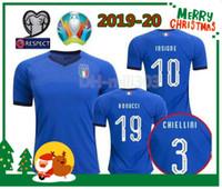 thailand-nationalmannschaft fußball-trikot großhandel-19 20 ITALIEN Heimtrikot Thailand Qualität 2019 2020 uropean Cup Nationalmannschaft Italien BONUCCI IMMOBILE INSIGNE Fußball-Trikot-Shirt