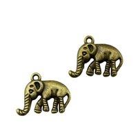elefantenbronze charme anhänger großhandel-100 stücke Charme Elefant Vintage Elefant Charms Anhänger Für Schmuck Machen Antike Bronze Farbe Elefant Charms 16x20mm