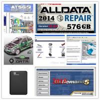 jeep autos venda por atacado-Alldata 2019 auto Repair Soft-ware todos os dados v10.53 + Mitchell + caminhão pesado + atsg 46 in1 1TB HDD para todos os caminhões de carros