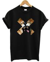 ropa de estilo hip hop urbano al por mayor-Lion Cross Camiseta Top X Roar Urban Hip Hop Street Style Clothing Marca hombres, mujeres, hombres, Unisex, camiseta de moda Envío gratis