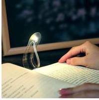 ingrosso leggere il libro notte-Mini Book Light Ultra Bright Segnalibro Night Lamp Flessibile creativo LED Book Reading Light Holiday Gifts Camera Nightlight