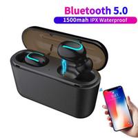 kablosuz bluetooth toptan satış-Kablosuz Kulaklık Q32 Ile Bluetooth Kulaklık Mini Cep Telefonu Kulaklık Güç Bankası Stereo Spor Akülü Handsfree Oyun Mic Kulaklık