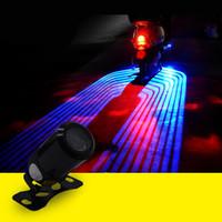motocicleta modificada venda por atacado-Frete grátis Motocicleta Luz Modificados Chassis luz LED asas do anjo Bem-vindo Asas Luz Projeção Lâmpada decorativa Luzes Acessórios