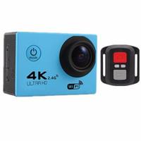 zoom da câmera de esporte venda por atacado-2018 Novo F60R 4 K WIFI Esportes Câmera de Ação Ultra HD 1080 P 30 m Câmera de Mergulho Subaquático À Prova D 'Água pro DV Camcorder telefone controle câmera