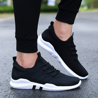 cc flats оптовых-TRAANO Men Mesh Casual Shoes Breathable 2019 New Summer Spring Knitted  Weaving Flats SHOES Male Fashion Footwear CC-019-8