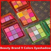 maquillaje multi color al por mayor-La marca de belleza más nueva NEON 9 Colors Shimmer Eyeshadow Make Up Eyadowow con 3 estilos y alta calidad