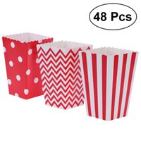 Wholesale popcorn bags resale online - 48pcs Popcorn Carton Paper Popcorn Boxes Bags Box Party Favors Supplies Decorative Dinnerware For Birthday Baby Shower