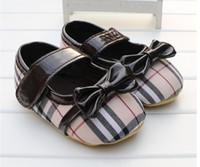 Wholesale boy shoes for baby month resale online - New Baby Boys Girls Canvas Shoes High Quality Two Strap Newborn Baby Toddler Fashion First Walkers For Month