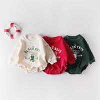 Wholesale kids velvet hoodies resale online - Baby kids Winter clothes Romper Hoodies Velvet Warm Thick Romper Long Sleeve Kids Outwear Clothes Romper
