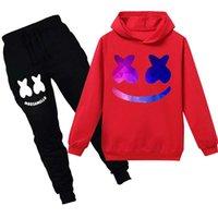 erkek kış eşofmanı toptan satış-çocuklar tasarımcı kat kış erkek Marshmello DJ Müzik Triko Seti lüks tasarımcı giysi hoodies bebek bebek çocuk eşofman