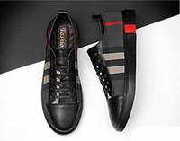 ingrosso scarpe piatta moda italia-newSpring Italy New Fashion High Top Uomo Scarpe Casual Sneakers Scarpe Designer di lusso Scarpe da passeggio a piedi Abito da sposa 38-46