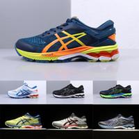 atletik ayakkabı tasarımcıları toptan satış-Yeni Asic JEL KAYANO 26 Koşu Ayakkabıları Orijinalleri Tasarımcı Mavi Sarı Gri Beyaz Erkek Atletik Ayakkabı Yardımcı Adam Spor Koşu Ayakkabı Eğitmeni