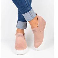 ingrosso scarpe da donna straniere-2019 scarpe da donna nuove scarpe corte zeppa con stivali casual Martin versione commercio estero di alta qualità