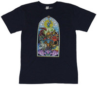 Wholesale anti wrinkle glasses resale online - Shovelknight Shovel Knight Mens T Shirt Stained Glass Style Knights image Comfortable t shirt Casual Short Sleeve Print Cotton
