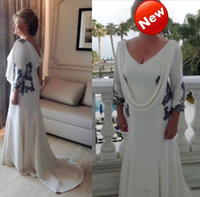Wholesale elegant mother bride long gowns for sale - Group buy Plus Size Elegant Mother of the Bride Groom Dresses Lace Applique Long Sleeve Women Formal Mother Party Evening Gown