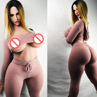 Wholesale small silicone anime love doll resale online - New cm Real Silicone Chubby Sex Doll for male Europe type huge breasts boobs heavy anime love dolls