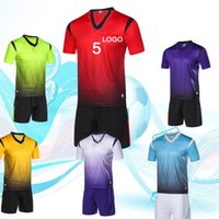 Wholesale free soccer uniforms for sale - Group buy Football training uniforms sportswear children s suits and home made training teams can handle names and numbers
