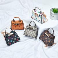 çocuklar için mini çanta toptan satış-Yeni Çocuklar Çanta Moda Baskı Tasarımcısı Bebek Mini Çanta Omuz Çantaları Genç Çocuk Kız Haberci Çanta Sevimli Yılbaşı Hediyeleri