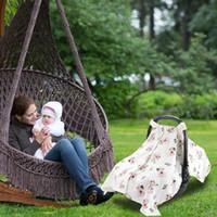 ingrosso breastfeeding scarf-Baby Feeding Cover Neonato Seggiolino auto Baldacchino Flamingo Animal Pattern Allattamento al seno Sciarpa Neonato Copertina infermiera Carrello