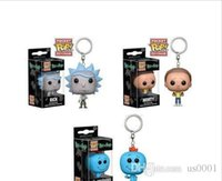 Wholesale lowest price gift boxes for sale - Group buy Super Low price Discout Funko Pocket POP Keychain rick and morty Vinyl Figure Keyring with Box Toy Gift Good Quality