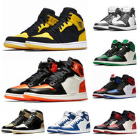 entrenador de baloncesto al por mayor-Air Jordan Retro 1 OG Satin Shattered Backboard Zapatillas de baloncesto para hombre Royal Blue Chicago Golden Top 3 Purple Womns Trainers Sneakers