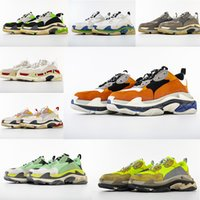 Wholesale square shoes for men for sale - Group buy Hot Fashion Paris FW Triple S Sneakers Triple S Casual Dad Shoes for Men Women Beige Black Ceahp Sports Designer Shoe Size