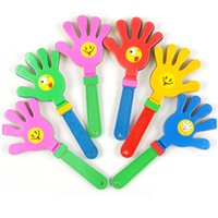 Wholesale hand clappers noise makers resale online - 1pc Fashion colorful hand clapper Concert party cheering props children clap Noise Makers small hands clapping toy