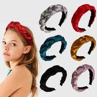 Wholesale hair twist stick for sale - Group buy Velvet Twist Hair Sticks Women Cute Knot Headband Lady Travel Solid Color Headwear Girls Party Hair Accessories TTA1567