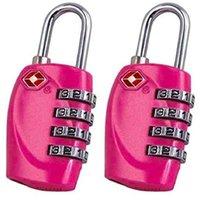 sacos com fechadura combinada venda por atacado-TFTP-2 x TSA cadeado de segurança - 4-dial combinação mala de viagem de bagagem Bag Code Lock