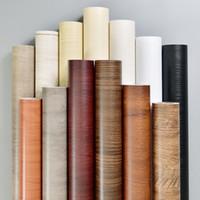 ingrosso sfondi impermeabili d-3d Vintage 60X500cm Rinnovamento di mobili antichi Carta da parati autoadesiva impermeabile per pareti Adesivi in legno da parati autoadesivi 3 d adesivi