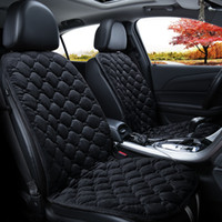 Wholesale red velvet car for sale - Group buy ZHIHUI Heated Car Seat Cushion Auto Shutoff Zone Tech Heated Car Seat Cushion With Temperature Controller Black Beige Coffe Red cm V