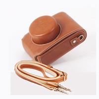 Wholesale lux cameras resale online - Portable Camera Bag PU leather case for Leica D LUX D LUX7 D LUX6 D6 D LUX5 D5 Camera Case Cover with shoulder strap