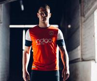 ingrosso magliette arancioni-2019 Luton Town F.C. Home Maglie di calcio 19/20 Camicie da calcio color arancio bianco T-shirt da calcio personalizzate Luton per adulti