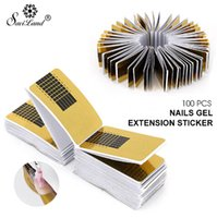 Wholesale french nail online - 100pcs Professional French Nail Form Tips Nail Art Form Acrylic Tip Gel Nails Sticker Extension for Nail Polish Guide
