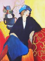 ingrosso dipinti oli-Mondern Quadri astratti ad olio Donna su tela Wall Art Donna Annoiata per Decorazioni da parete Dipinta a mano Alta qualità Senza cornice