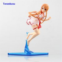 brinquedos sexuais online para homens venda por atacado-Espada Art Online Figura de Ação Yuuki Asuna Figura Swimsuit Ver. Sexy Anime Menina Presente Brinquedos Para Homens Boneca Figuras PVC Sexo Modelo XP