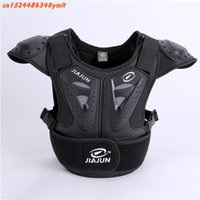 Wholesale motorcycle body protectors resale online - Child Body Protector armor Motorcycle jackets Motocross back shield sleeveless vest Spine Chest Protective gears Jacket