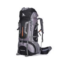 mochila com saco de corda estilo esportivo venda por atacado-80L Grande Capacidade Ao Ar Livre mochila de Acampamento Saco de Viagem Profissional Caminhadas Mochila Mochilas esportes saco de Escalada pacote 1.45 kg