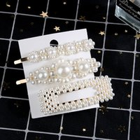 Wholesale hairpin pearls resale online - 5 Set Full Pearl Hair Pins Women Hair Clip Pin Barrette Headwear Hairpins Jewelry Accessories Hair Ornament