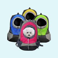 Wholesale puppies shoulder bags resale online - Pet Carrier Dog Carrier Pet Backpack Bag Portable Travel Bag Pet Dog Front Bag Mesh Backpack Head Out Double Shoulder Puppy Dog D19011201