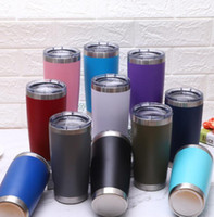 20OZ Stainless Steel Tumbler Cup Vacuum Insulated Straight Cup Beer Coffee Mug with Lids Sports Water Bottles Car Tumblers Mugs GGA1927