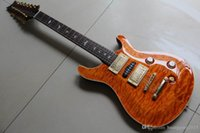 Wholesale 12 string china guitars resale online - New Arrival China Guitar Prscustom String Electric Guitar In Brown Burst
