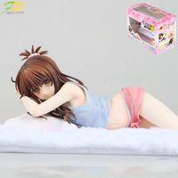 ingrosso figurine del fumetto-Spedizione gratuita Hot 2019 Action figure To Love Darkness Yuuki Mikan sexy Lying bed Modello cartoon doll PVC giapponese figurine mondo anime