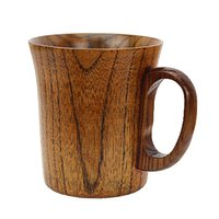 ручка пивной кружки оптовых-Beer Vintage Handmade Wooden Coffee With Handle Safe Water Mug Cup