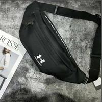 sütyen külotları toptan satış-Tuval Su Geçirmez Unisex Göğüs Çanta Marka Kişilik Kadın Erkek Omuz Çantası Açık Kısa Ayarlanabilir Çift Bel Çantaları