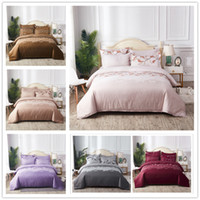 Wholesale red flowered comforter covers full resale online - Elegant Flowers Bedding Set Twin Full Queen Size Duvet Cover Set Colourful with Orchid for Women of Comforter Cover Set