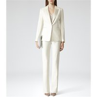 Wholesale office work trousers long for sale - Group buy Custom Womens Business Work Suits Formal Evening Piece Pant Suits Female Office Uniform One Button Ladies Trouser Suits