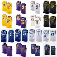 12 jersey azul venda por atacado-NCAA Anthony 3 Davis Jerseys College LeBron 23 James Purple RJ 9 Barrett Blue Zion 1 Williamson Red Ja 12 Morant Amarelo Branco Preto 2019 Novo